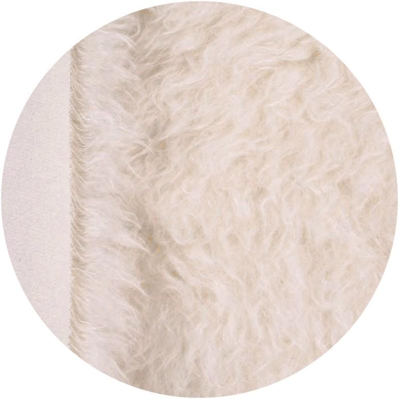 Mohair à coudre  7 cm - Blanc Neige
