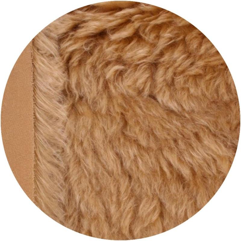 Mohair à coudre 70 mm - Chatain doré