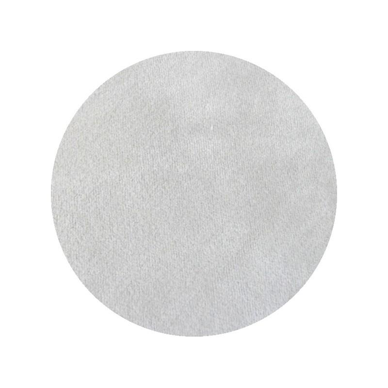 Velours de coton oeko tex gris perle