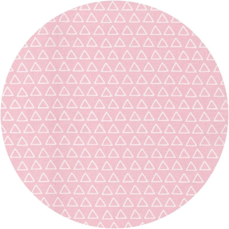 tissu triangles roses  (Oëko-Tex)