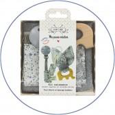 Kit naissance Hochet / Attache-tétine - Elephant
