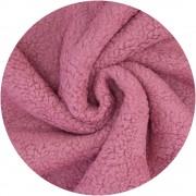 Peluche coton - Vieux Rose