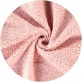 coupon de tissu peluche coton - Rose pâle