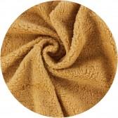 tissu peluche ours coton - Caramel