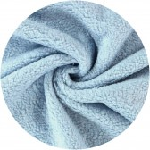 coupon de tissu peluche en coton - Bleu ciel