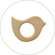 Anneau de dentition en bois 'Oiseau'