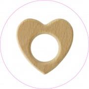 Anneau de dentition en bois 'Coeur'