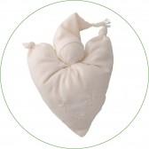 Doudou coeur - Cadeau naissance Waldorf