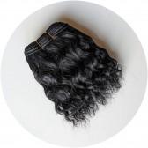 Bande cheveux  noirs pour poupée waldorf - doll mohair wig