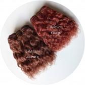 cheveux poupée boucles auburn