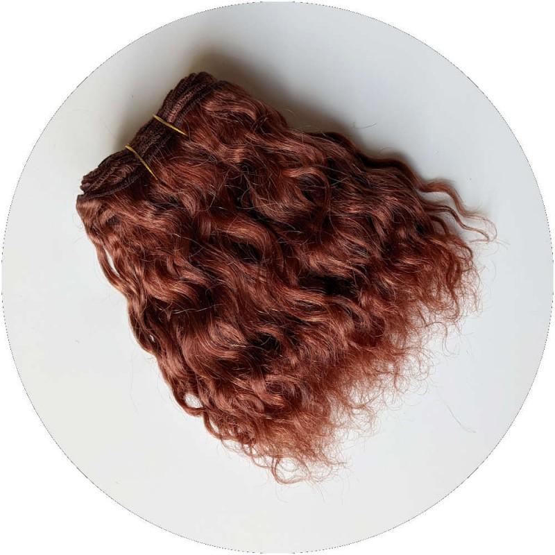 cheveux de poupée en bande bouclés - Chatain Auburn