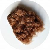Cheveux en bande chatain cuivré poupée