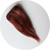 cheveux en bande chatain auburn