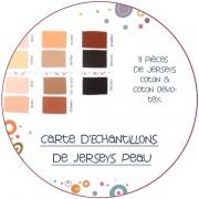 Carte d'échantillons - 15  jerseys peau
