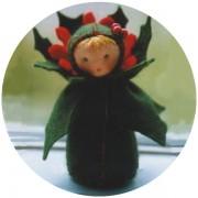 Mini poupée 'Feuille de houx'