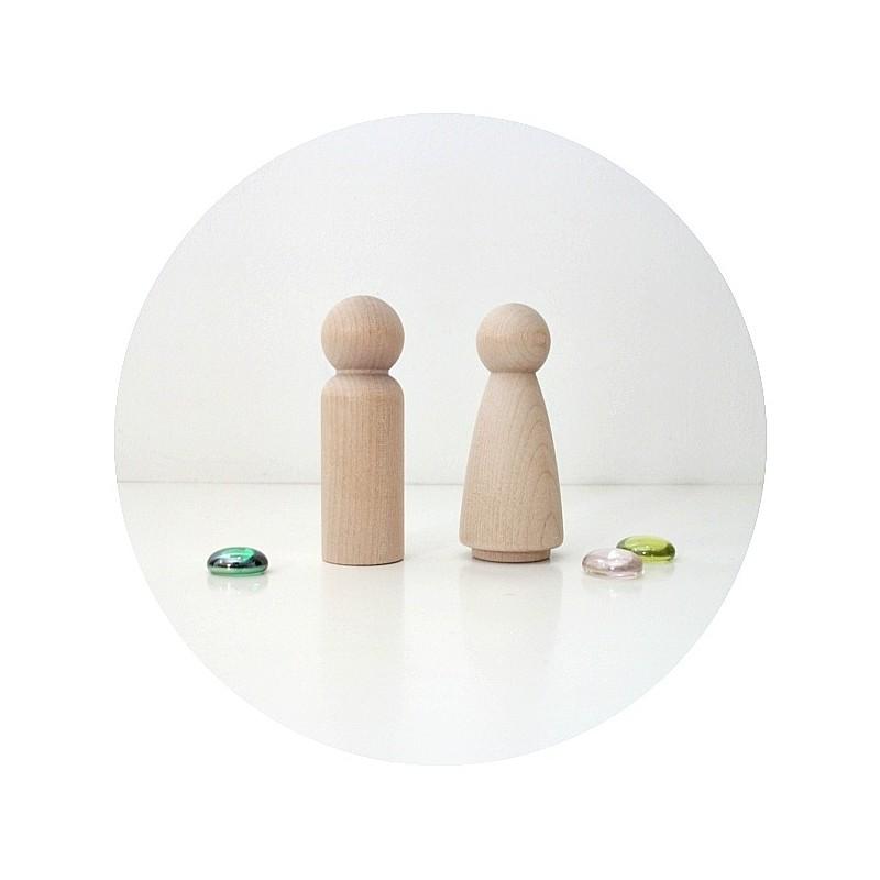 Figurine bois gateau de mariage cake topper