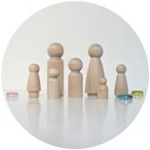 famille miniature bois à customiser
