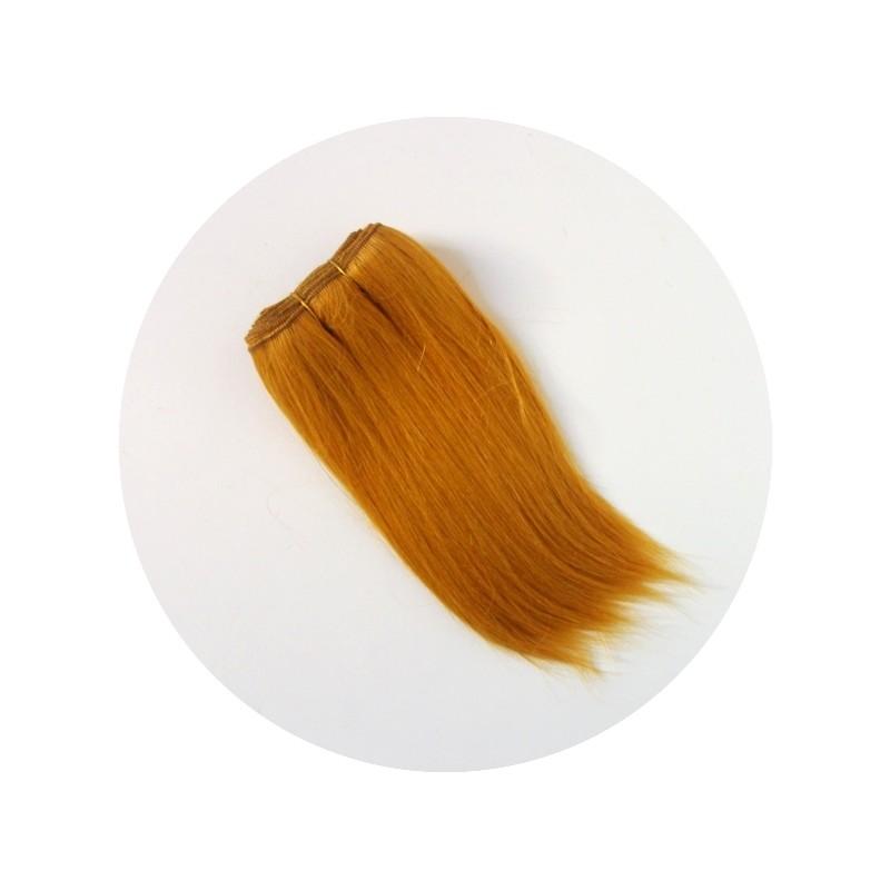 Cheveux en bande pour poupée raides roux 'Carotte'