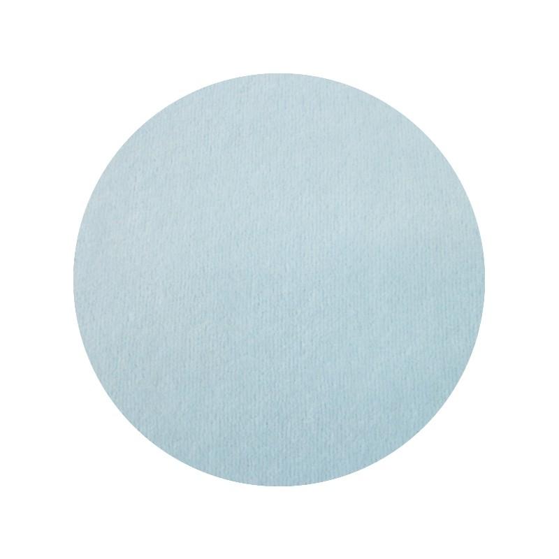 Velours de coton oeko tex, jersey de velours bleu ciel