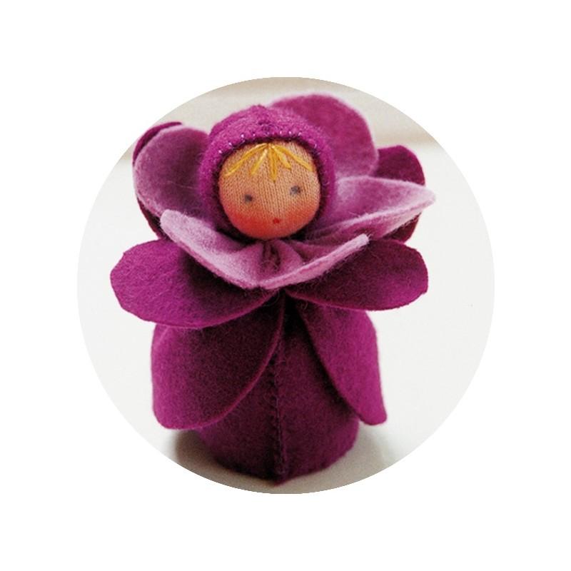 Kit mini poupée feutrine 'Violette'