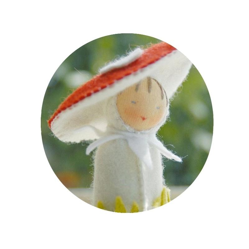 Kit mini poupée feutrine 'Champignon'