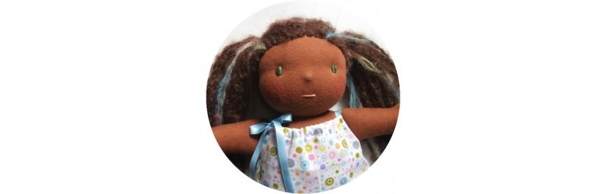 Laine pour cheveux de poupée waldorf