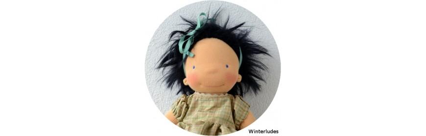 Fourrure mohair à coudre, cheveux pour poupée