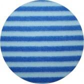 Velours de coton BIO 'Rayures bleues '