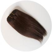 cheveux en bande poupée - Brun chocolat