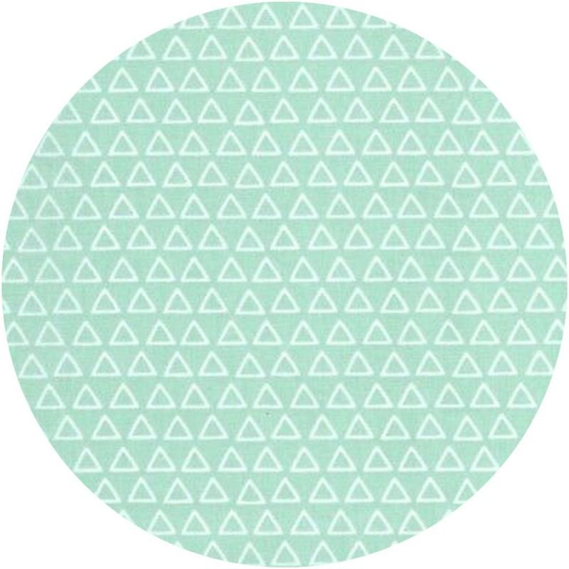 tissu Triangles - Mint (Oëko-Tex)