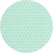 Triangles - Mint (Oëko-Tex)