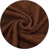 Tissu ours DIY, peluches, 80%  coton - Chocolat