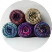 Grosse laine multicolore cheveux de poupée