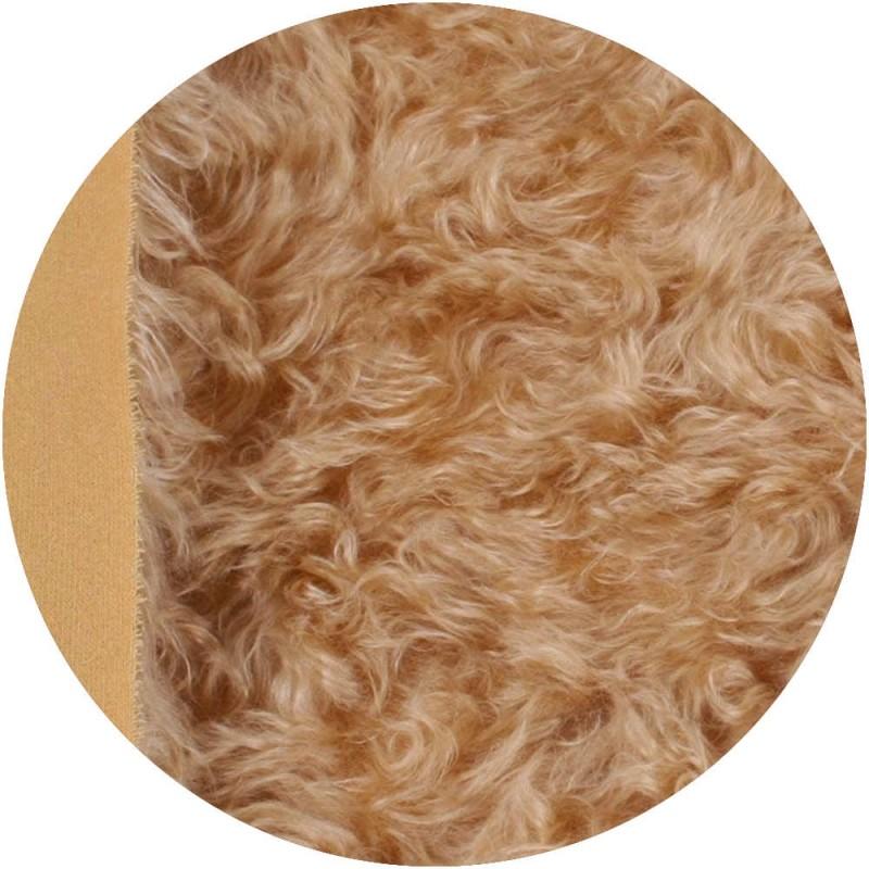 Cheveux de poupée waldorf Mohair 4 cm - Blond doré