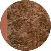 Cheveux de poupée Mohair à coudre 4 cm - Chatain