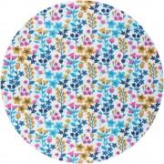 Prairie - rose & bleue (oeko-tex)