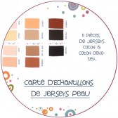 Carte d'échantillons jerseys tissu peau poupée waldorf