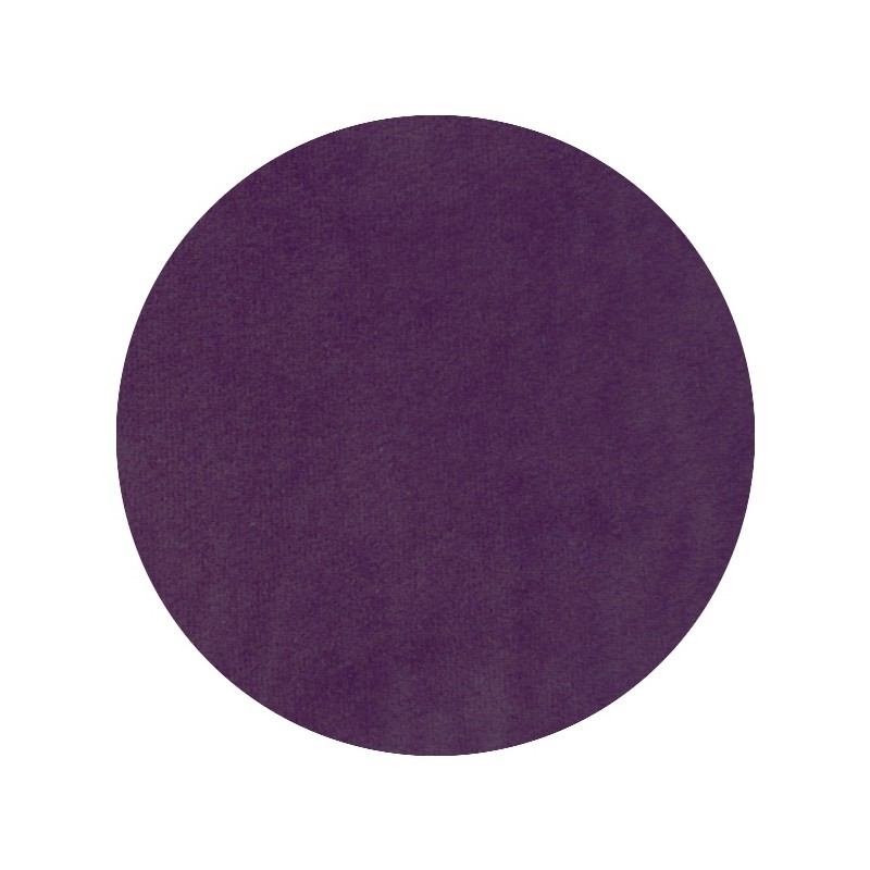 Velours de coton oeko-tex, jersey de velours violet 'Aubergine'