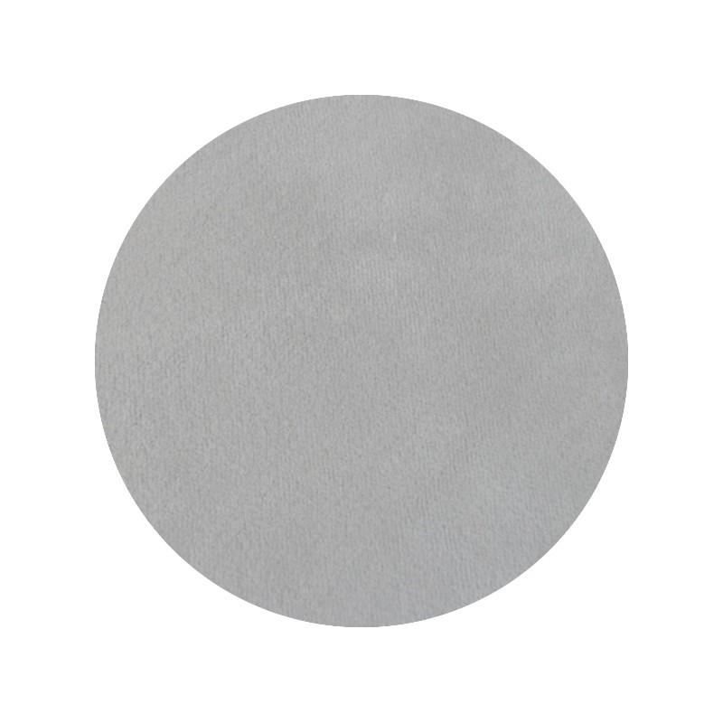 Jersey de velours oeko-tex, Velours de coton gris 'Souris'
