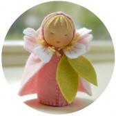 Kit mini poupée feutrine 'Fleur de cerisier'