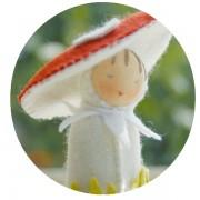 Mini poupée 'Champignon'